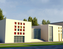 Architecture Thesis: Cultural Center, Forlì, Italy 2011