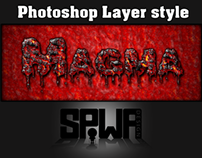Magma Photoshop Layer Style