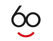 60th anniversary logos