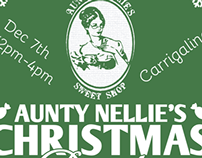 Aunty Nellie's Christmas Party Poster