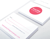 Everything is my Design – Stationery