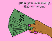 Make your own money, rely on no one - Illustration