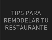 Tips para remodelar tu restaurante