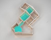Interior design of a fla