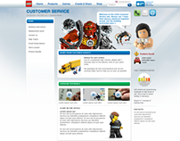 LEGO Customer Service site