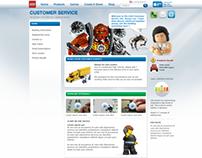LEGO Customer Service site