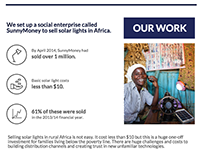 SolarAid Impact Infographics Report