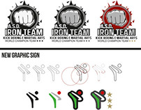 Iron team Kick Boxing Logo