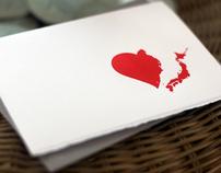 Mending Broken Hearts letterpress card