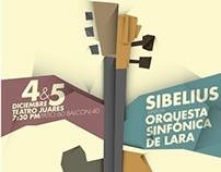 Póster : Sibelius &  Orquesta Sinfónica de Lara
