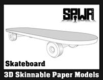 Skateboard Promotional Paper Model