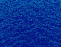 Ocean Waves -blue- / HD,4K Video