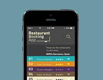 Restaurant Booking App // UX