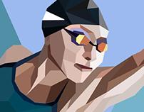 polygonal swimming