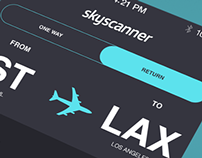 skyscanner  app re-design