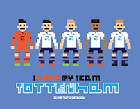 I Love My Team Pixel Design -Tottenham Hotspur