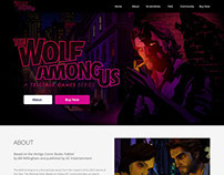 The Wolf Among Us | Website Redesign
