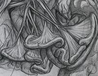 Cadaver sketches- organs
