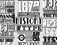 History of Type timeline A2 poster