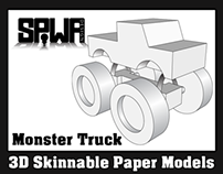 Monster Truck Promotional Paper Model
