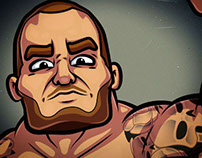 WWE CARTOON CHARACTERS