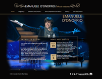 My Web Design for Emanuele D'Onofrio official site