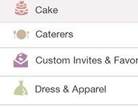Wedding.com's Web app version of vendor directory