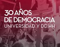 30 años de Democracia | Universidad y DDHH