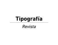 Tipografía - Revista
