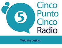 Web Site Cinco Punto Cinco Radio