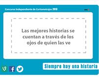 Concurso Independiente de Cortometrajes.