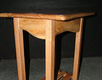 Wainy Edge Scottish Oak Side Table