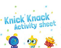 Knick Knack Activity Sheet