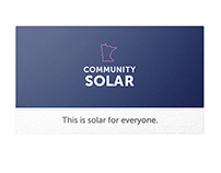 Minnesota Community Solar business cards