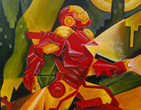 Iron man painting by Farah Amir