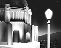 Griffith Observatory Illustration