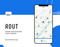 App UI/UX Design - ROUT