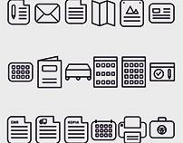 Zestaw ikon dla drukarni AGO. Strzegom. 2017 //
