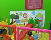 Parco giochi e sala feste per bambini