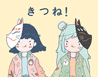 Japanese Grils! - character design