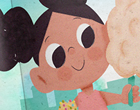 A bela adoecida, ilustração Infantil