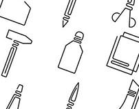 Art shop icon set