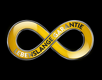 "OPEL ""Lebenslange Garantie"" logo animation"