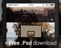 Instagram Redesign (+ Free .psd download)