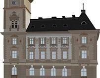 City Hall Bielsko Biała Illustration