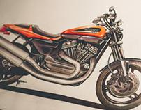 Harley-Davidson XR1200 Marker Rendering