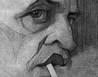 Klaus Kinski illustration portrait