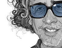 Tim Burton illustration Portrait