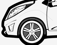Chevrolet Volt Illustrations