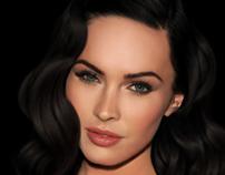 Megan Fox Digital Portrait